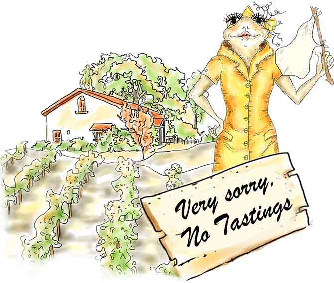 Very Sorry, No Tastings at the Ranch